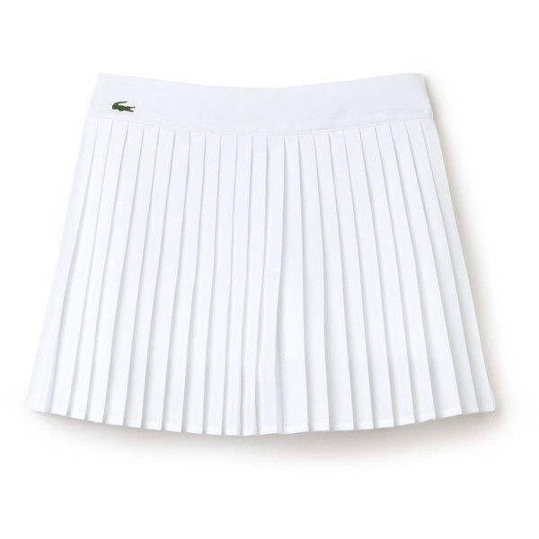 Lacoste Women's SPORT Technical Pleated Tennis Skirt (€81) ❤ liked on Polyvore featuring activewear, activewear skirts, lacoste sport lacoste sport, white, tennis skirt, sports activewear, lacoste sportswear and lacoste