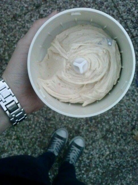 Dessert -bananenijs: bevroren banaan met yoghurt