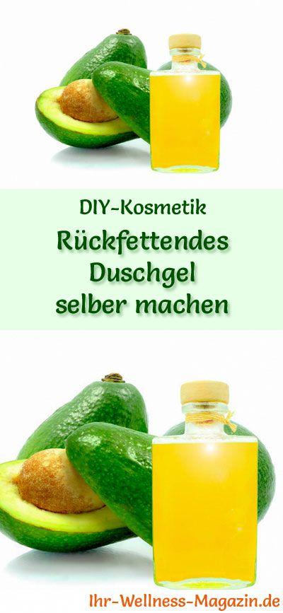 Duschgel selber machen - DIY-Kosmetik-Rezept für rückfettendes Duschgel, es versorgt trockene Haut mit wertvollen Fetten ... #diy#selbermachen#körperpflege#kosmetik#naturkosmetik