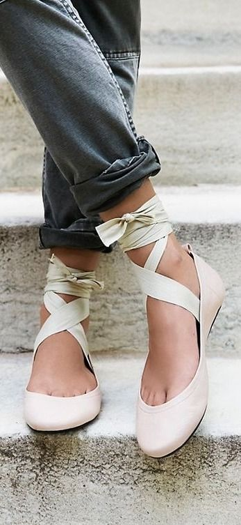Ballet inspired shoes—the trend that's entirely It-girl approved.