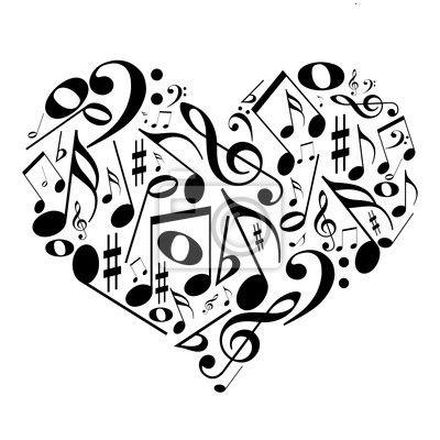 Quadros ou poster music, sino de ferro, grau - coração com notas musicais - gosto pela música ✓ Montagem fácil ✓ 365 dias para devolução ✓ Confira outros modelos desta coleção!