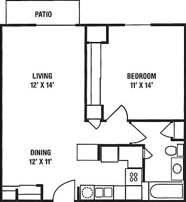 700 sq ft floor plans house floor plans pinterest for Floor plans for one bedroom apartments