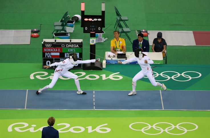Nowacka, Oktawia, Kim, Sunwoo - Modern Pentathlon - Poland, Republic of Korea - Women's Individual - Women's Fencing Ranking Round - Youth Arena