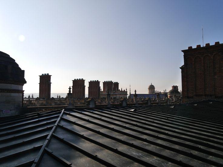 Quelques cheminées chauffaient l'ensemble de la résidence royale qui devint un musée d'Archéologie nationale en 1862.  (C) MAN/P. Fallou