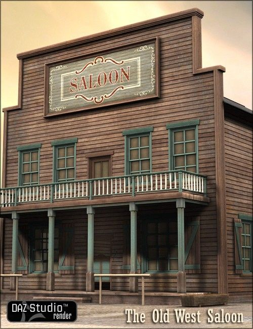 Old West Saloon 3D Building Model