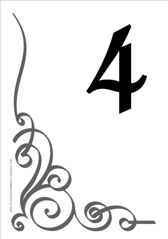 Free table number templates 4x6 table in style with our for Table numbers for wedding reception templates