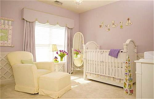 Love the lavendar and cream colors too, but not wild about white furniture...too easy to get dirty!
