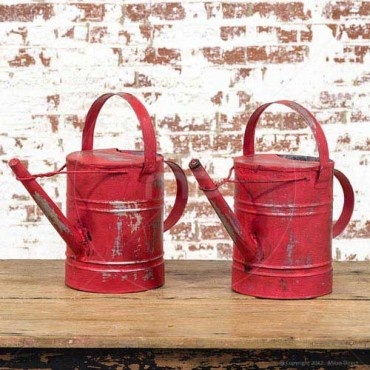 Industrial Water Can - Red - Set of 2 - Large Range of Vintage Water Can & Industrial Water Cans - Milan Direct