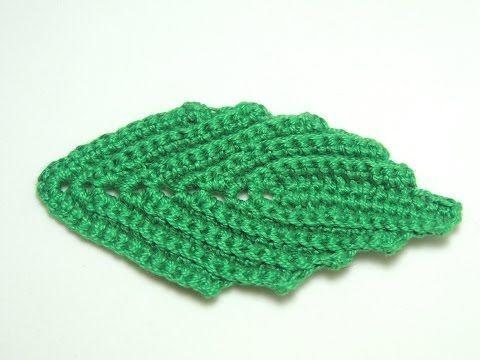 Folhas de Crochê para Aplicação no Centro de Mesa Floral - Aula 01 - YouTube