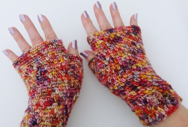 Learn how to crochet fingerless mitts that are cozy, comfortable and functional! This free pattern is easy enough for beginners.