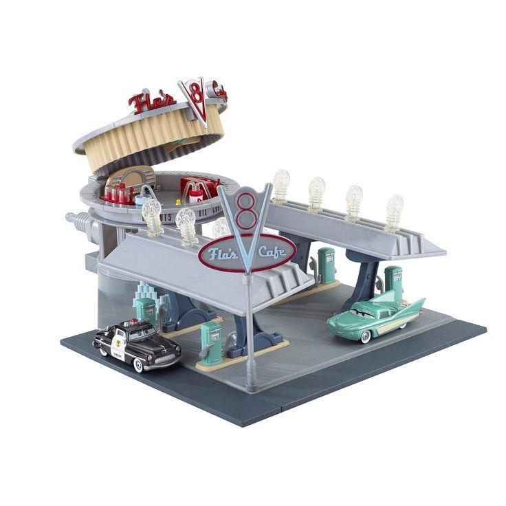 Disney pixar 39 s cars radiator springs flo cafe mattel for Bureau cars toys r us