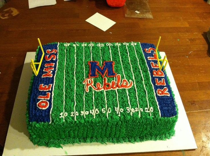 Ole Miss football cake - Cake by Yvette