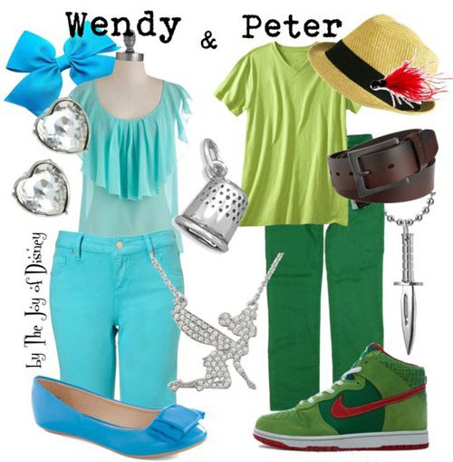 Couple outfit inspired by Peter Pan and Wendy Darling!