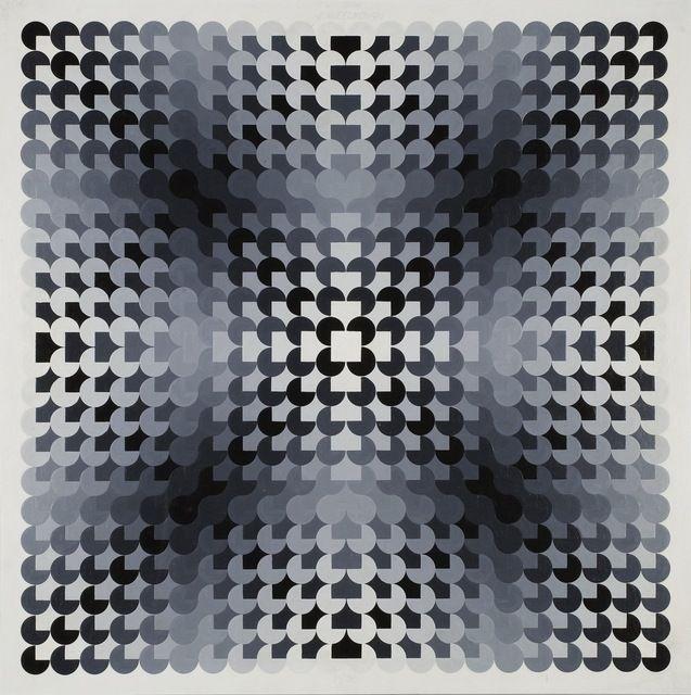 Ed Mieczkowski, Small Bloc #2 (1966), via Artsy.net