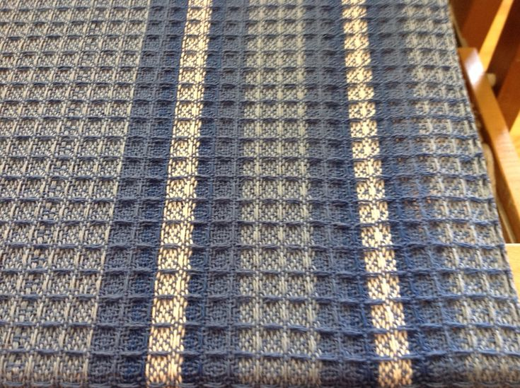 Close Up The Halcyon Waffle Weave Dish Towels Kit On The Loom