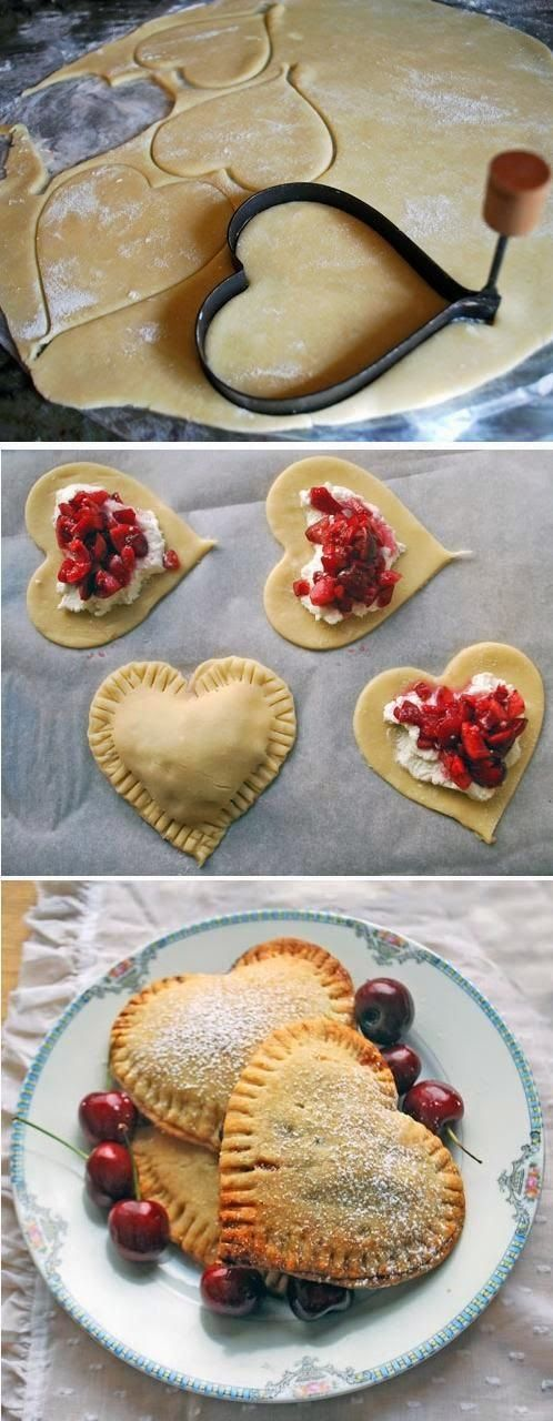 Sweetheart Cherry Pies | The Best Healthy Recipes | I don't use Nutella, as that is not healthy at all.