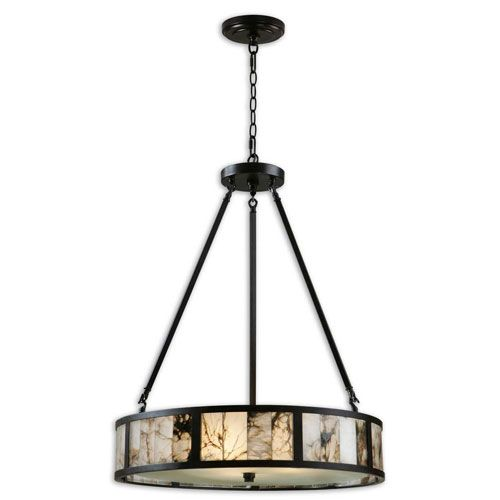 coslada oil rubbed bronze threelight drum pendant