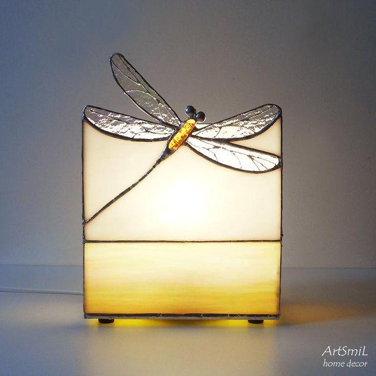 Lamp Dragonfly. Ornamental desk lamp. Distinctive design. Handmade lamp. Tiffany desk lamp. Stained glass lamp. Residence decor