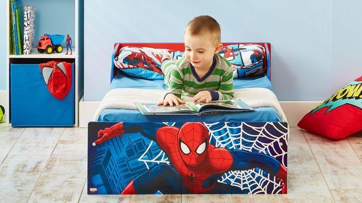 Cama infantil Spiderman de madera. Incluye colchón de 140cms x 70cms. 505SIA…