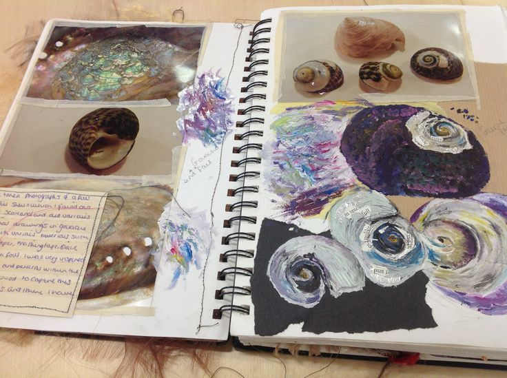 Unit 1 observational drawings textiles