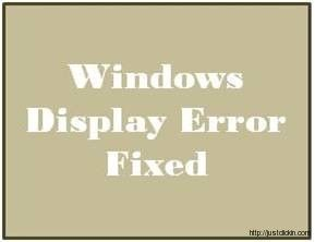 Display driver stopped responding and has recovered Error – Fixed