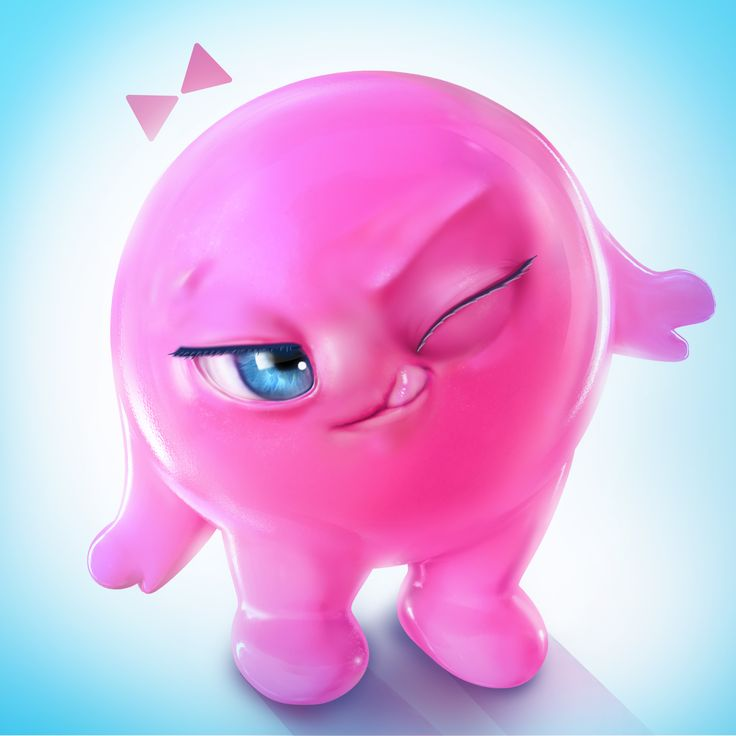 Character mascot design for a web application. It was done in Maya and photoshop. The inspiration came from bubble gum!