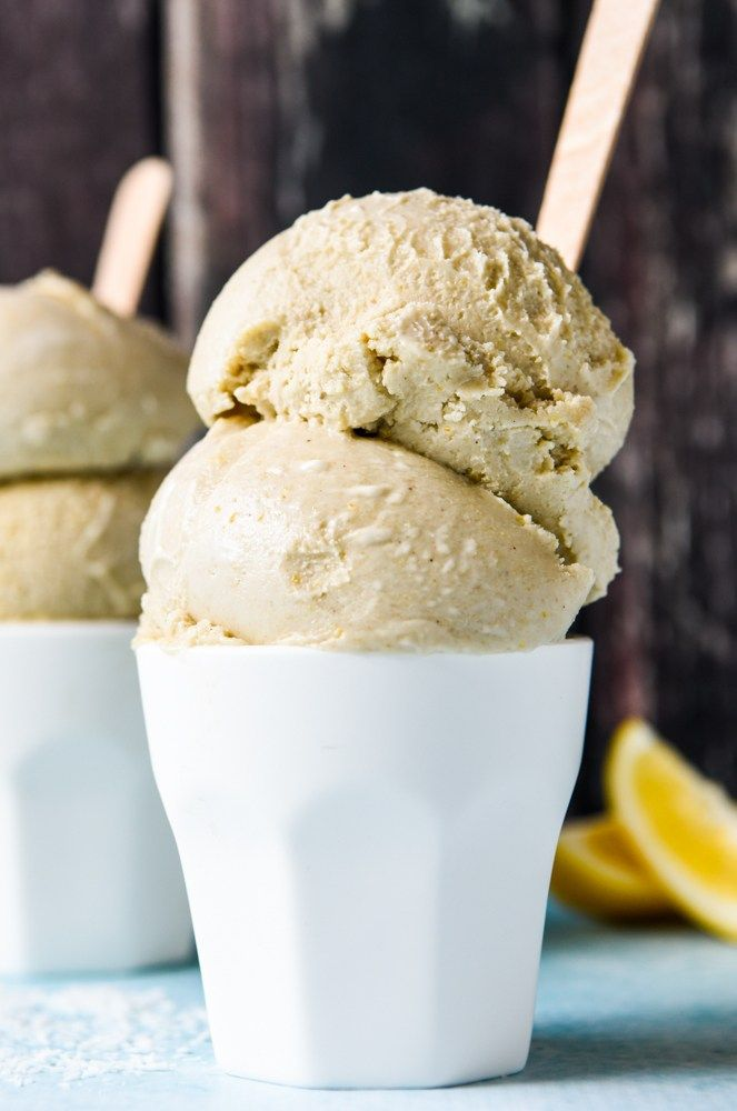 Lemon Slice Ice Cream with Thermomix Instructions.  Quick, simple and delicious!  Free from gluten, grains dairy, eggs and refined sugar.  Enjoy!
