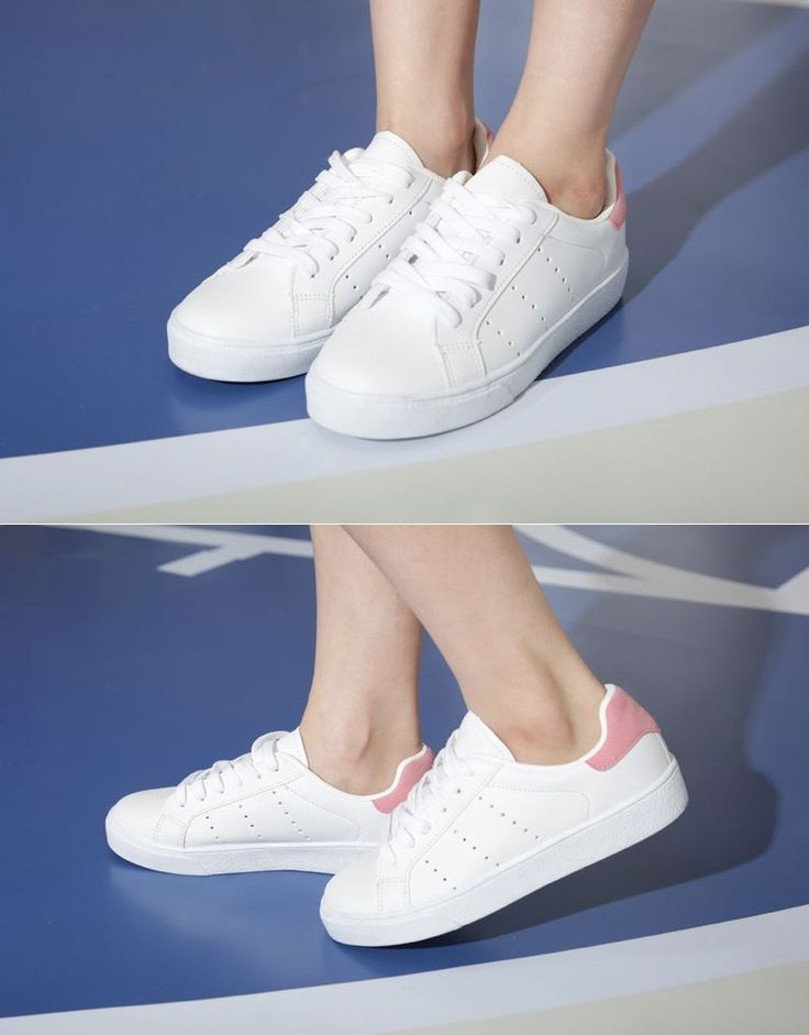 Dress up confidence! 10's trendy style maker 66girls.us Punched Low-Cut Sneakers (DHCI) #66girls #kstyle #kfashion #koreanfashion #girlsfashion #teenagegirls #fashionablegirls #dailyoutfit #trendylook #globalshopping