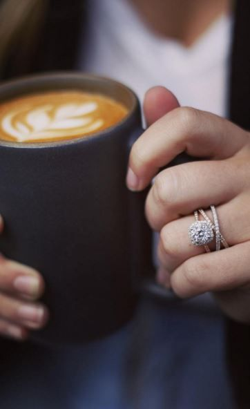 Take a sip and enjoy the stunning beauty of our diamond engagement rings. Shop our collection of ethically sourced, beyond conflict free engagement rings!