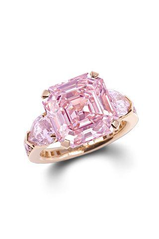 Graff Diamonds Fancy Intense Pink Emerald Cut Diamond, price upon request; graffdiamonds.com   - ELLE.com