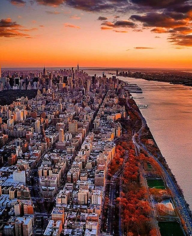 Upper West Side of Manhattan and the Hudson River, New