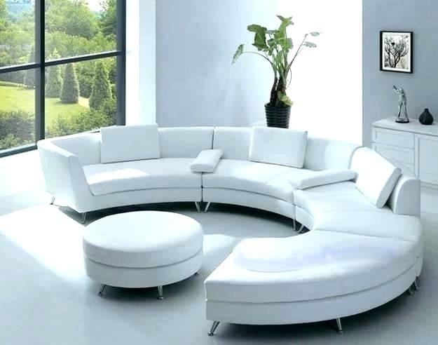 Curved Contemporary Sofa Living Room Design Modern Circle Sofa