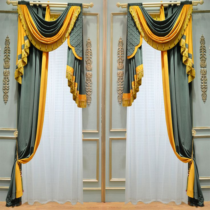 Some really nice valence/whatever the other is called combinations! Ulinkly is for Affordable Custom-made Luxurious Window Curtains