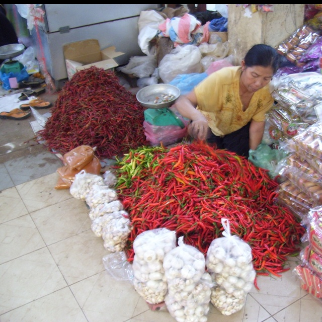 Marketplace in Laos