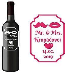 Darčeky pre svadobčanov - Svadobná etiketa Janis - Vyrezávané etikety, Svadobné etikety, Etikety na víno, Vinylové etikety, Etikety na fľaše, Nálepky na víno - 7403760_