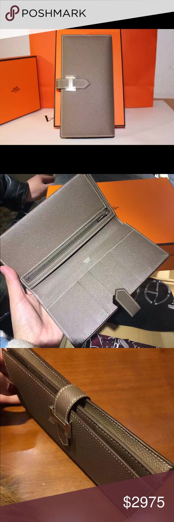 Hermēs classical Taupe Béarn Wallet X Stamp Hermēs classical Béarn Wallet Color:Taupe  Location of buying: Frankfurt Airport, Germany Condition: Brand New (unworn) Receipt: Yes  Box: Original Box  Shipping Location: Hong Kong Hermes Bags Wallets