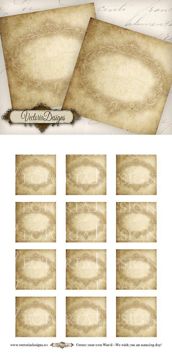 Blank Vintage Labels 2x2 Inch Vintage Printable By
