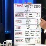 Fox News' Eric Bolling made liberals everywhere flinch as he shared a breakdown of voting demographics that led to Donald Trump's Election Day victory and