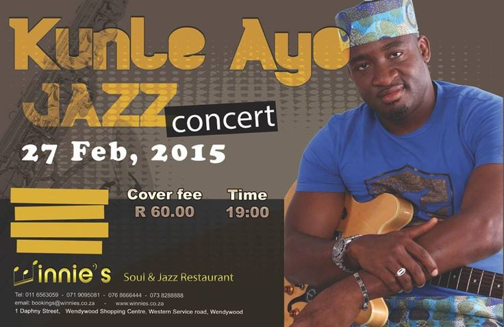 Kunle Ayo, Africa's most celebrated guitarists, has earned several musical accolades, even comparisons with giants of the contemporary school like George Benson, Earl Klugh and locally based Jimmy Dludlu . Live @ Winnies Soul and Jazz