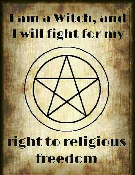 I Am a Witch and I Will Fight for My Right to Religious Freedom...)0(..