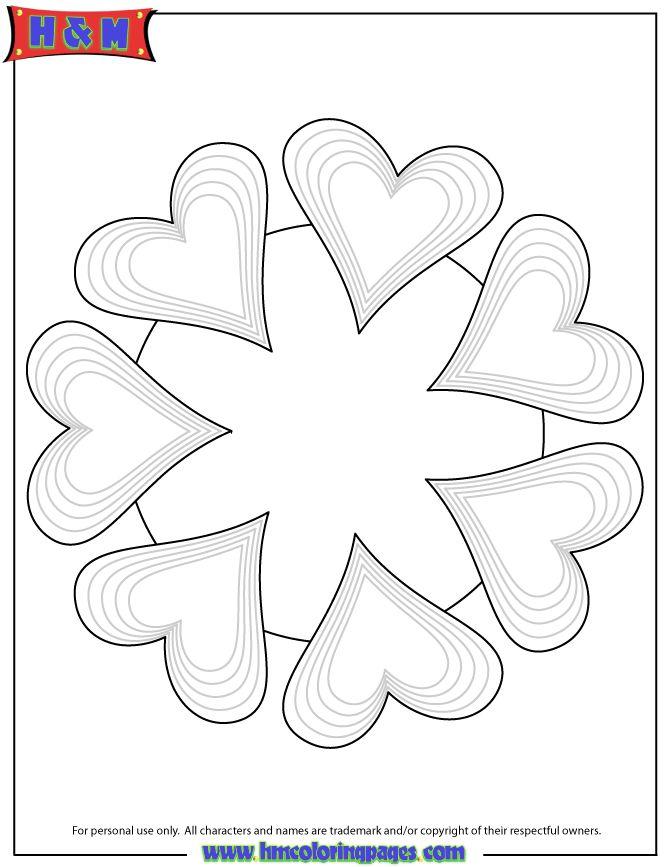 Free Printable Mandala Coloring Pages | Heart Mandala ...