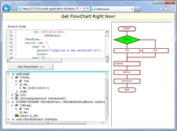 Online demo of Code to Flowchart. This online demo was developed by AthTek WebAPP Kit. It converts the CS type Code to FlowChart program to BS type online demo. And then you can try Code to FlowChart in your browser.