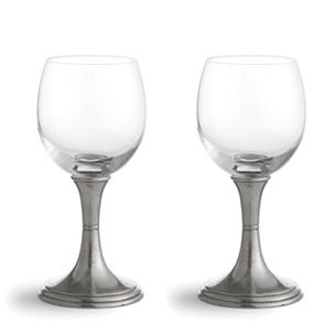 arte italica verona water and wine glasses in pewter and mouth
