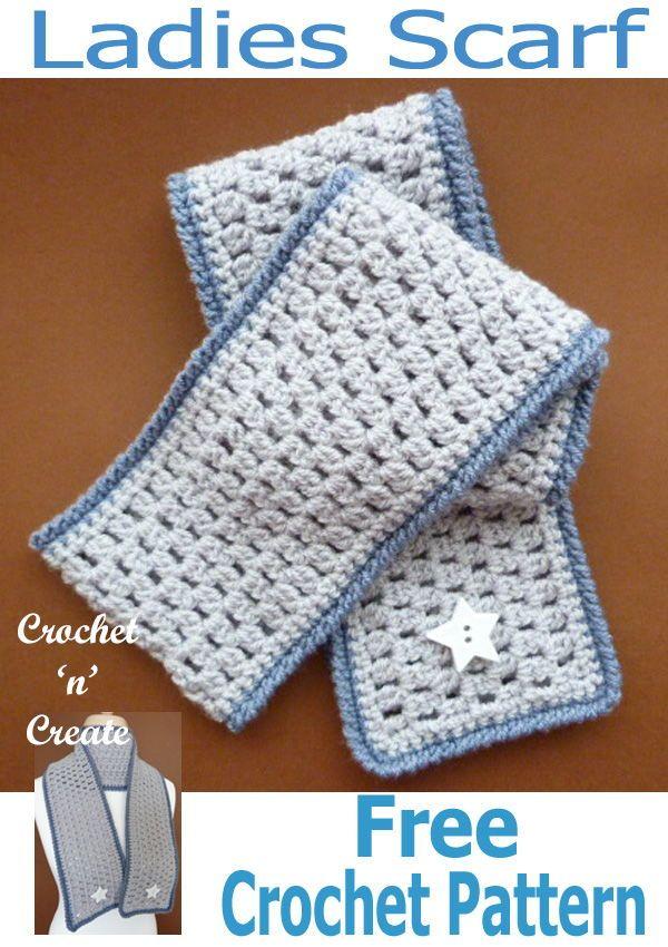 Crochet Ladies Scarf Free Crochet Pattern | Crochet | Pinterest