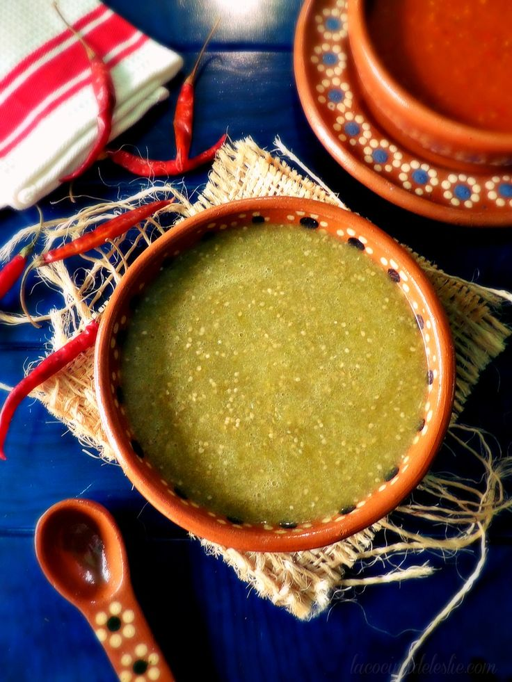 Salsas Taqueras | Red and Green Tomatillo Salsas - perfect for tacos or any Mexican dish!