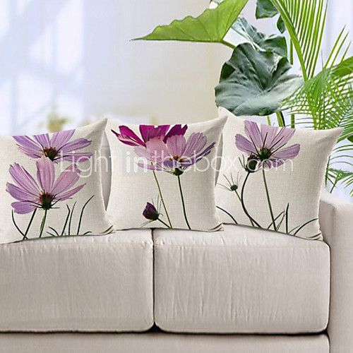 Algodón/Lino Cobertor de Cojín , Floral Moderno/Contemporáneo 2017 - $108252