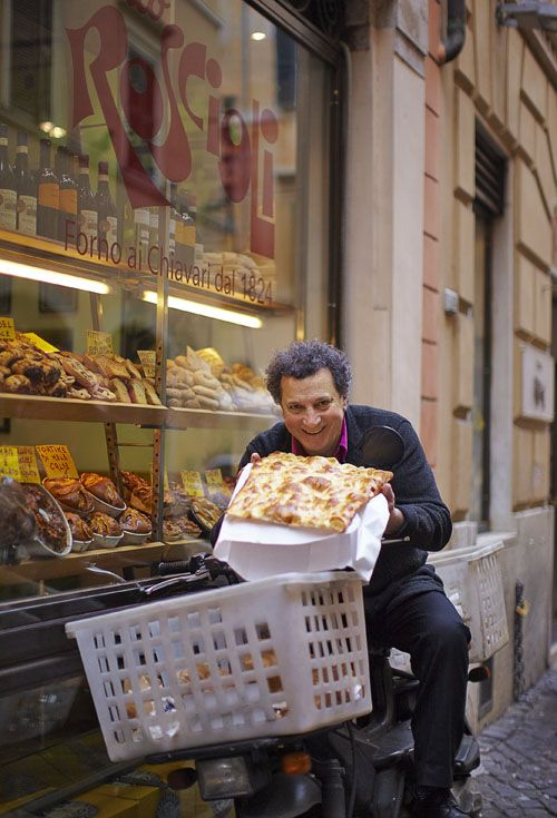 Roscioli Deli and Restaurant in Rome. Looks Delicious ~ wish he would have gotten a slice for me too!
