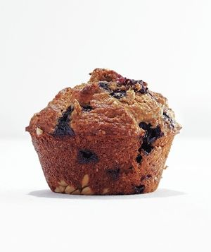 Banana-Blueberry Bran Muffins: Whole-wheat flour, wheat bran, sunflower seeds, and lots of fresh fruit make these muffins a good-for-you breakfast option.