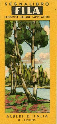 Segnalibri Fila Giotto anni ,40/'50 Serie Alberi d'Italia | Flickr - Photo Sharing!