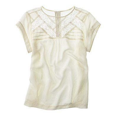 silk intermission top.: Silk Tops, Silk Intermiss, White Blouses, Silk Blouses, White Lace Tops, Madewell Silk, Summer Tops, Madewell Tops, Intermiss Tops